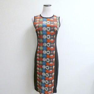 AKRIS SWITZERLAND BLACK GEOMETRIC SHEATH Dress 4